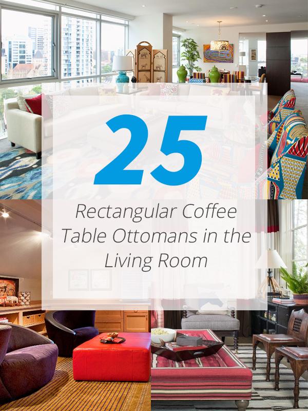 rectangular ottomans