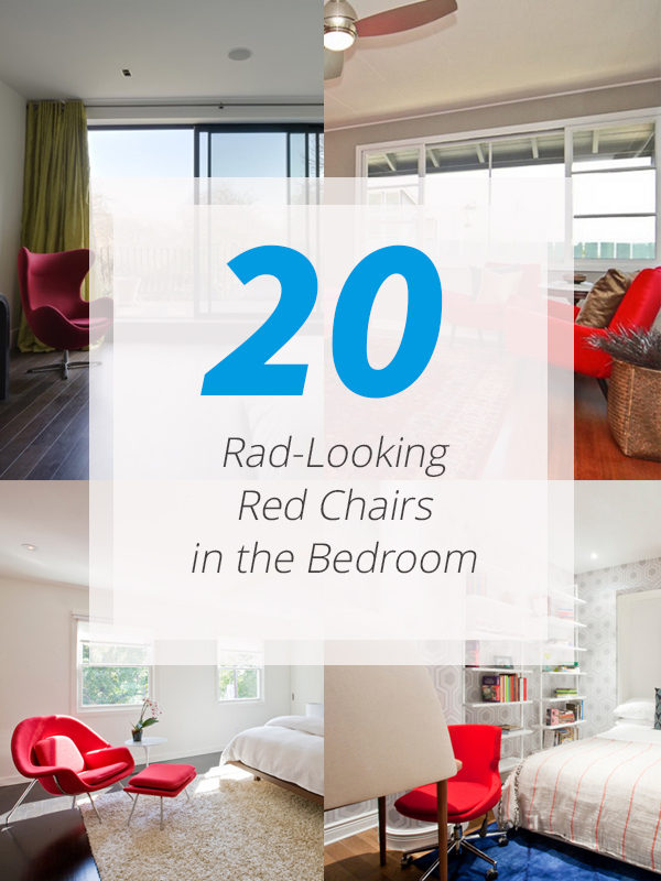 20 Rad-Looking Red Chairs in the Bedroom | Home Design Lover