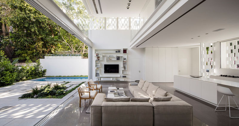 Indoor and Outdoor Living  Email  Save PhotoA Lovely Indoor and Outdoor Living Room in Israel   Home Design Lover. Indoor Outdoor Living Room. Home Design Ideas