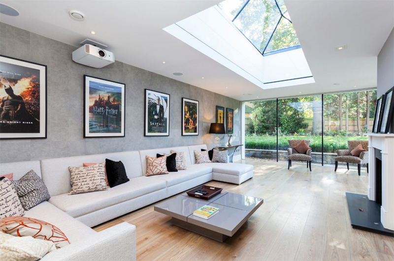 20 skylights for a bright living room home design lover for Large skylights