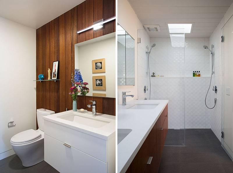 San Francisco Eichler House bathrooms