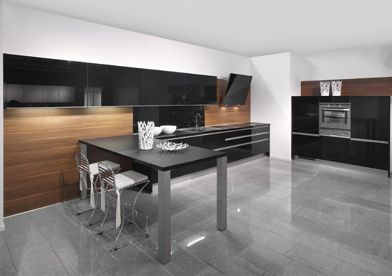 modern kitchen wood cabinets 22 kitchens in black and wooden palette home design lover 23555