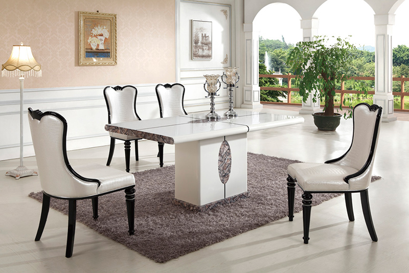 20 Luxurious Rectangular Marble Dining Tables
