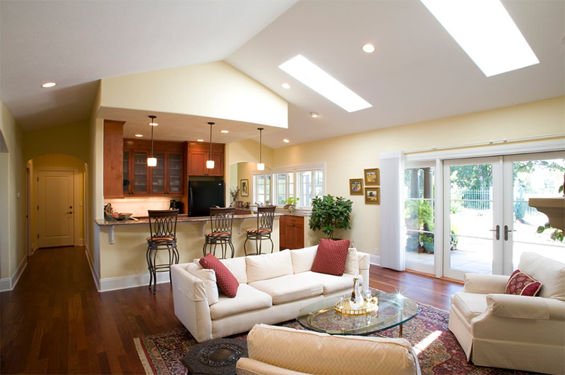 20 skylights for a bright living room home design lover for Skylights of hawaii llc