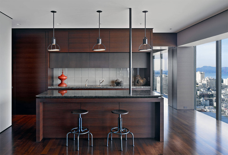 Kitchens In Black And Wooden Palette Home Design Lover - Wood cabinets grey countertops