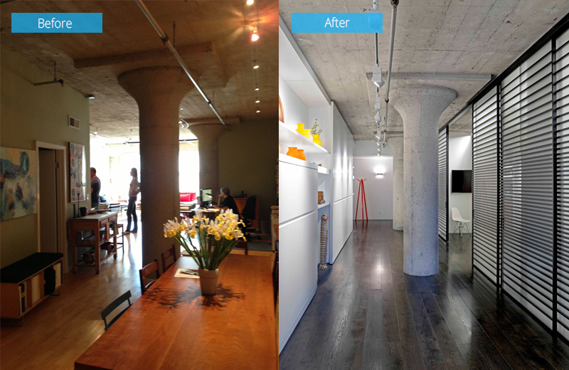 Before and After Loft