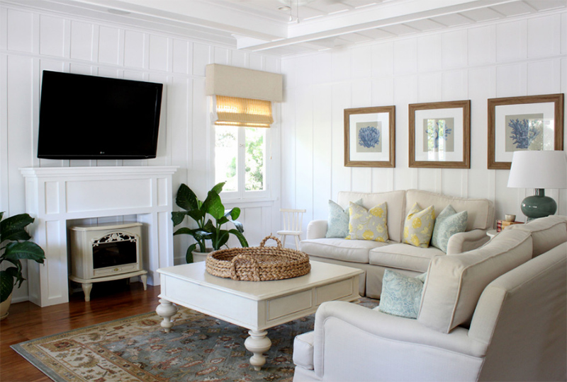 22 Beach Themed Home Decor in the Living Room | Home Design Lover