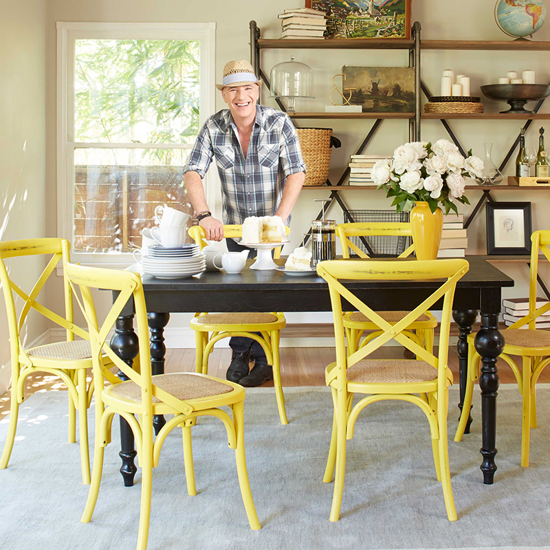 Cadwell Dining Chairs in Yellow