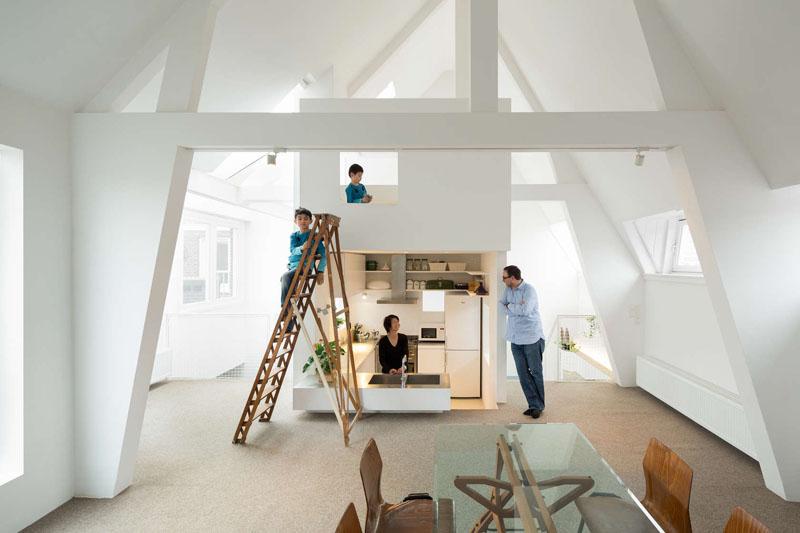 sunken kitchen ladder