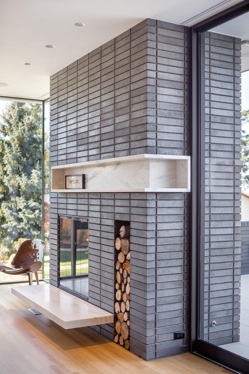 Ash House Porland fireplace