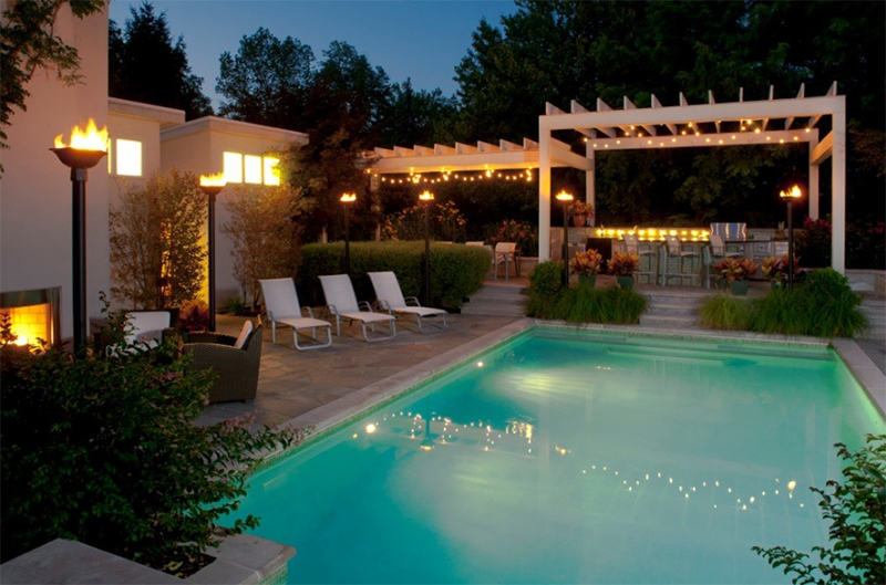 20 torch lights to accentuate your home s outdoor area home design
