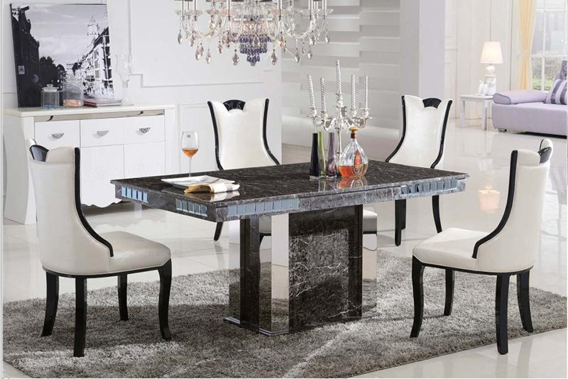 c3035 luxury dining table with marble top