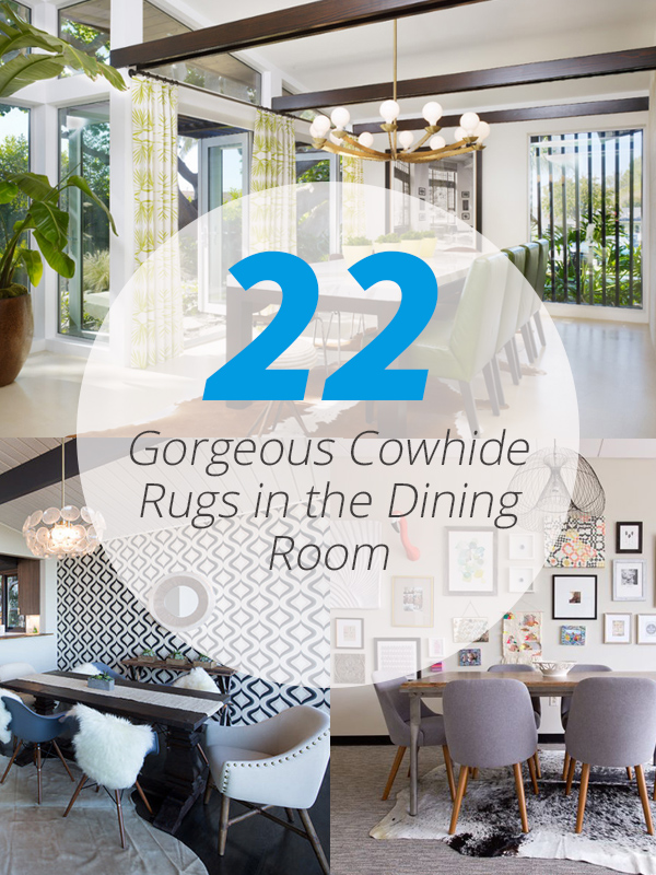 22 Gorgeous Cowhide Rugs In The Dining Room Home Design Lover