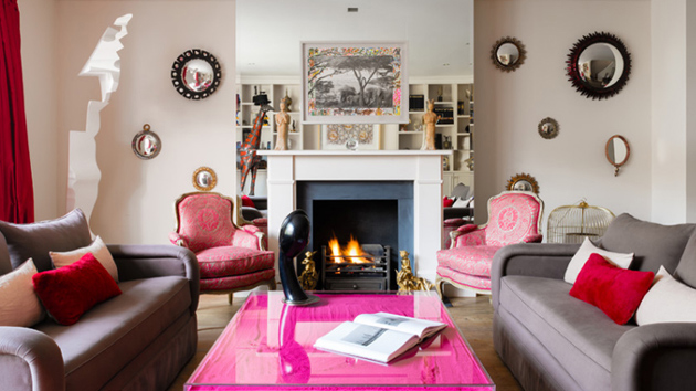 20 Pink Accent Chairs In The Living Room Home Design Lover