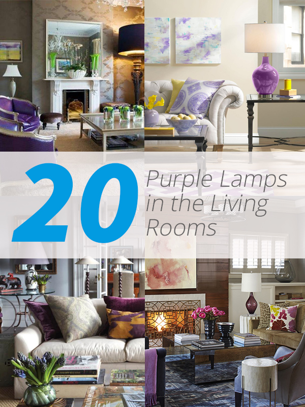 purple lamp living