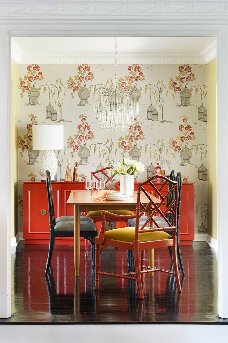 20 awesome red accent chairs in the dining room home design lover. Black Bedroom Furniture Sets. Home Design Ideas