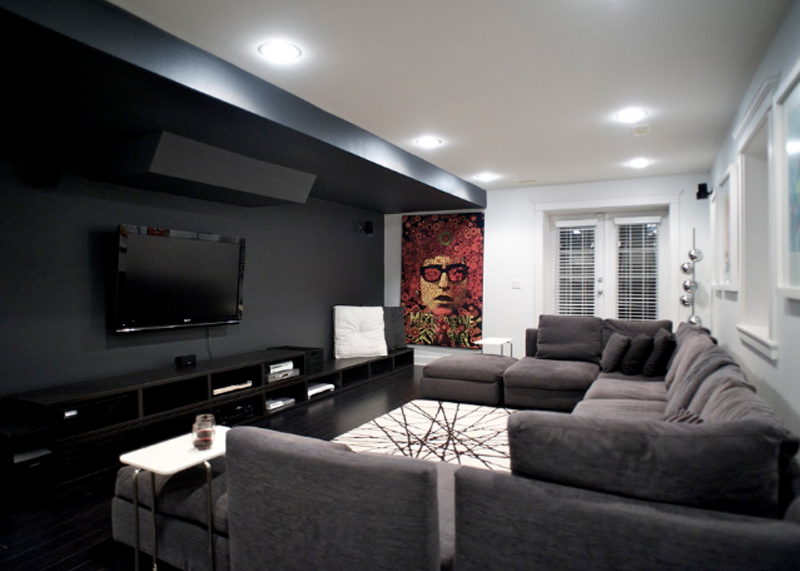 20 Knockout Black Accent Wall in the Living Room Home Design Lover