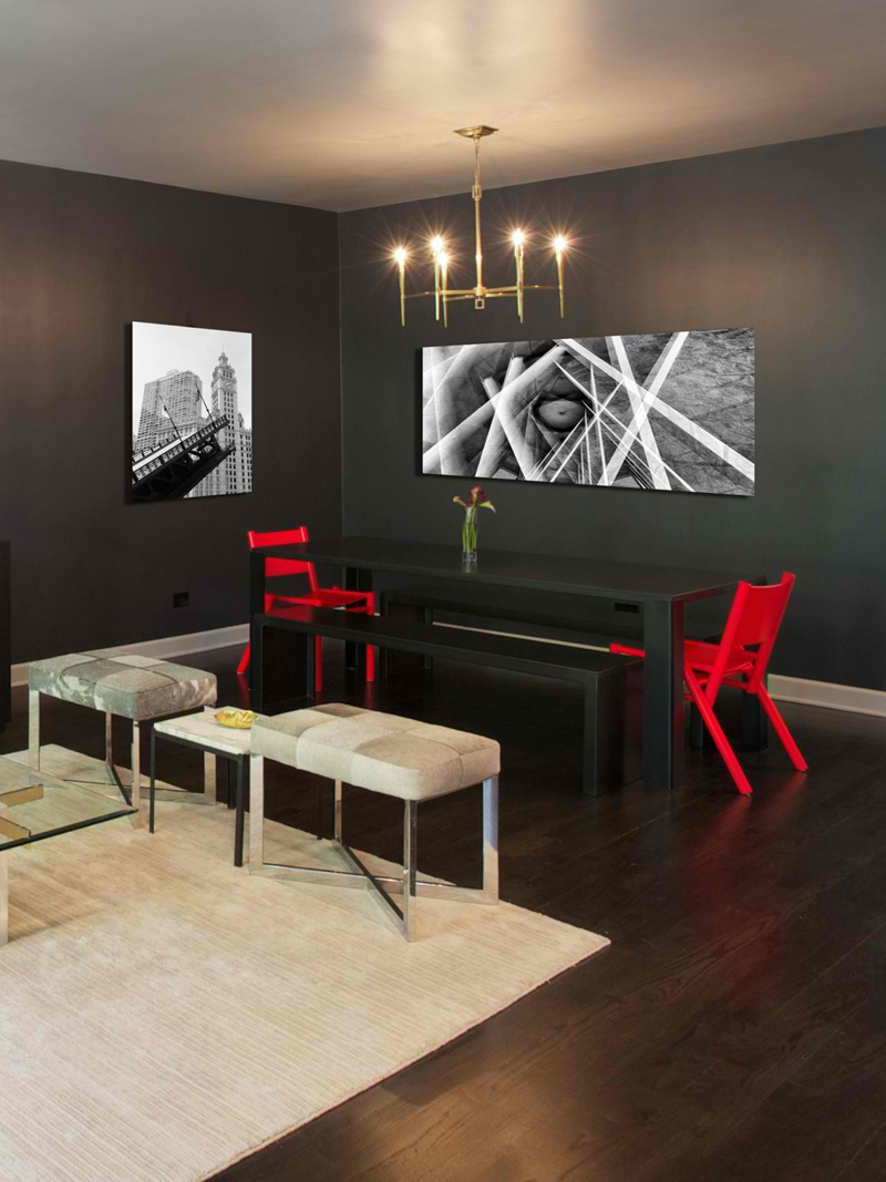 20 awesome red accent chairs in the dining room home design lover - Wandspiegel groay modern ...