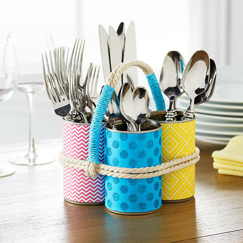 Soup Can Silverware Organizer