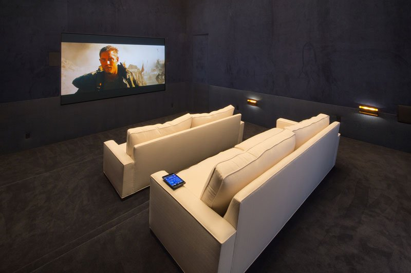 Feldman House home theater