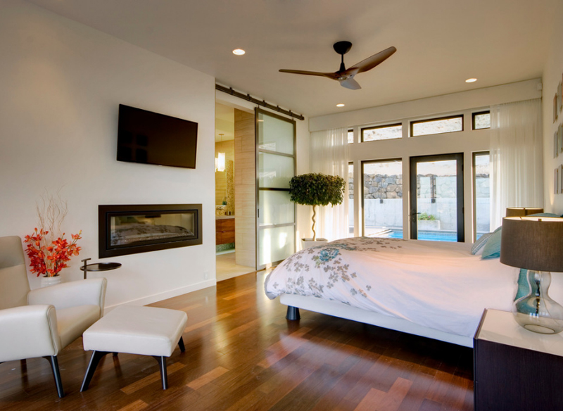 Gorgeous Bedrooms With Glass Sliding Doors Home Design Lover - Glass door designs for bedroom