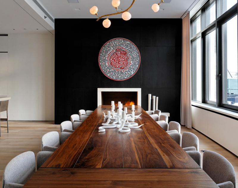 20 Beautiful Dining Rooms with Black Accent Walls | Home Design Lover