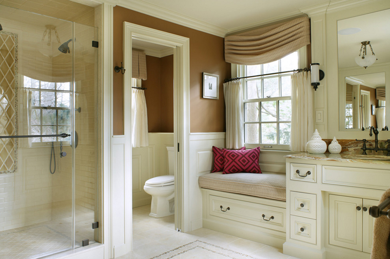 Storage Benches In 20 Beautiful Bathrooms