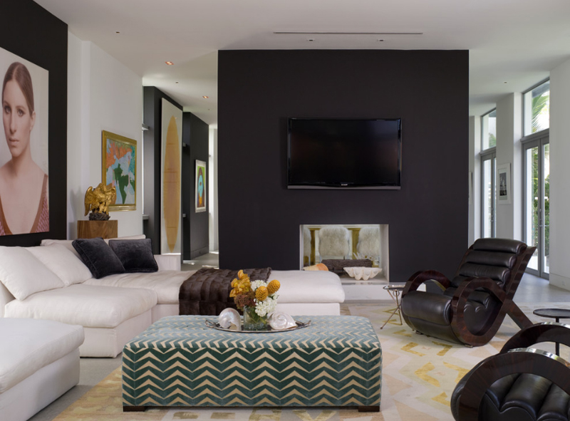 20 Knockout Black Accent Wall in the Living Room | Home Design Lover