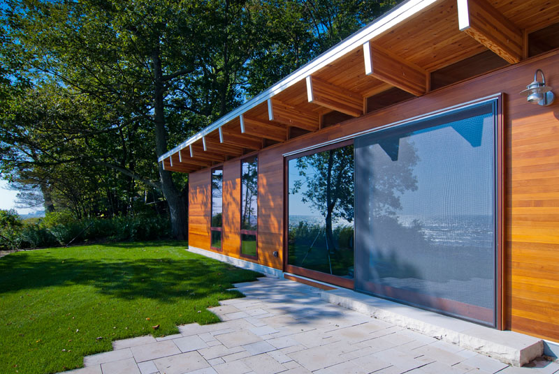Lake Michigan Beach Cottage sliding glass