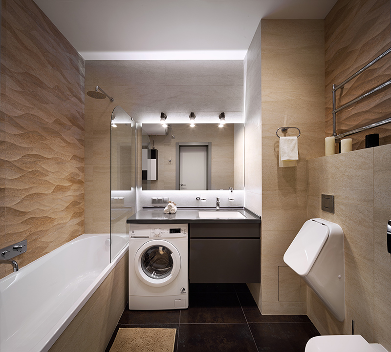 Tiny Stylish apartment bathroom