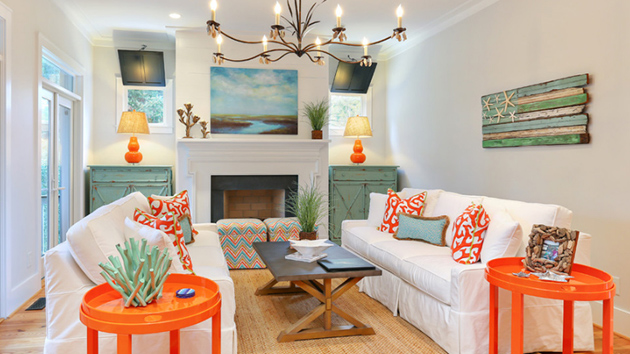 22 Beach Themed Home Decor in the Living Room | Home Design ...