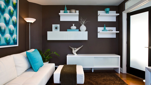 20 Wooden Floating Shelves in the Living Room | Home Design Lover