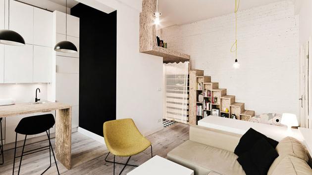 A 29 Square Meters Loft Apartment In Poland Home Design