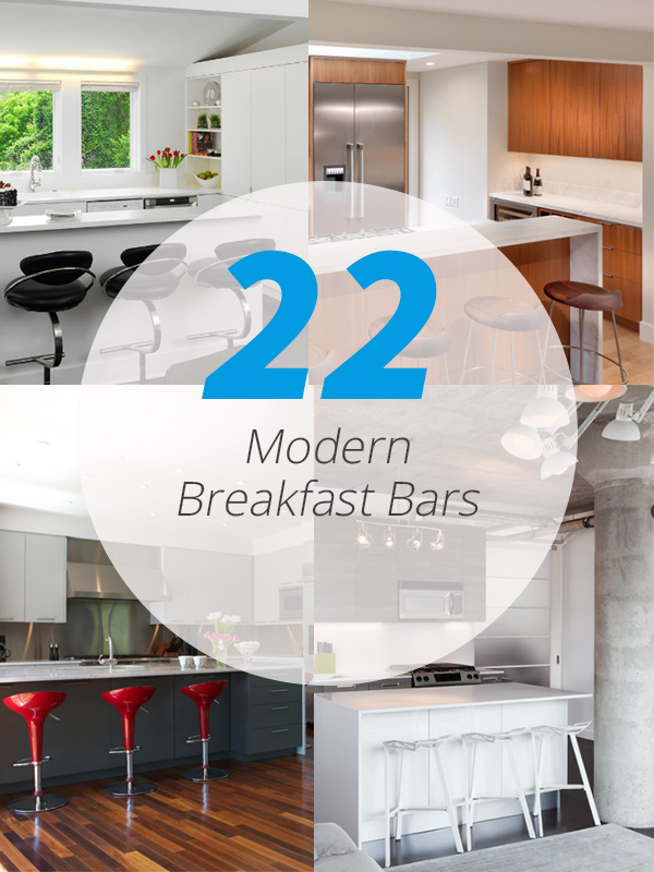 modern breakfast bars