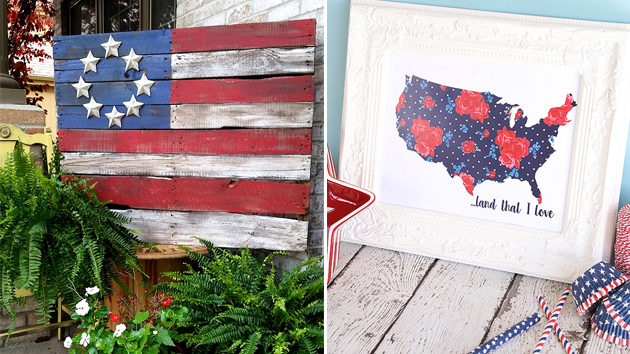 20 Patriotic DIY Wall Decors for the Fourth of July | Home Design Lover