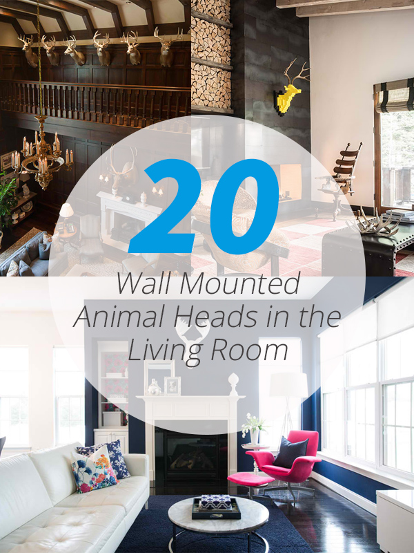 wall mount animalhead living