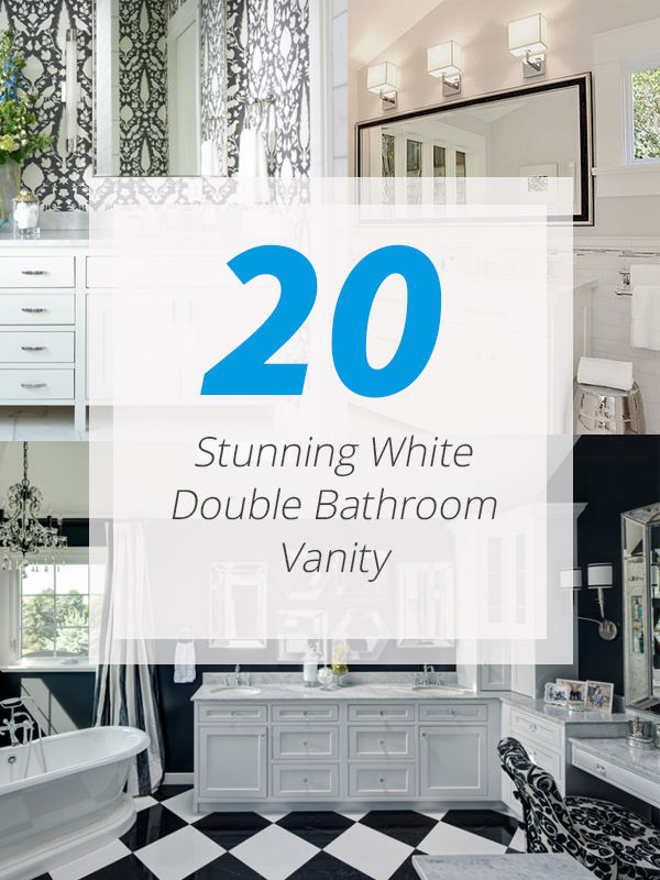 white double vanities