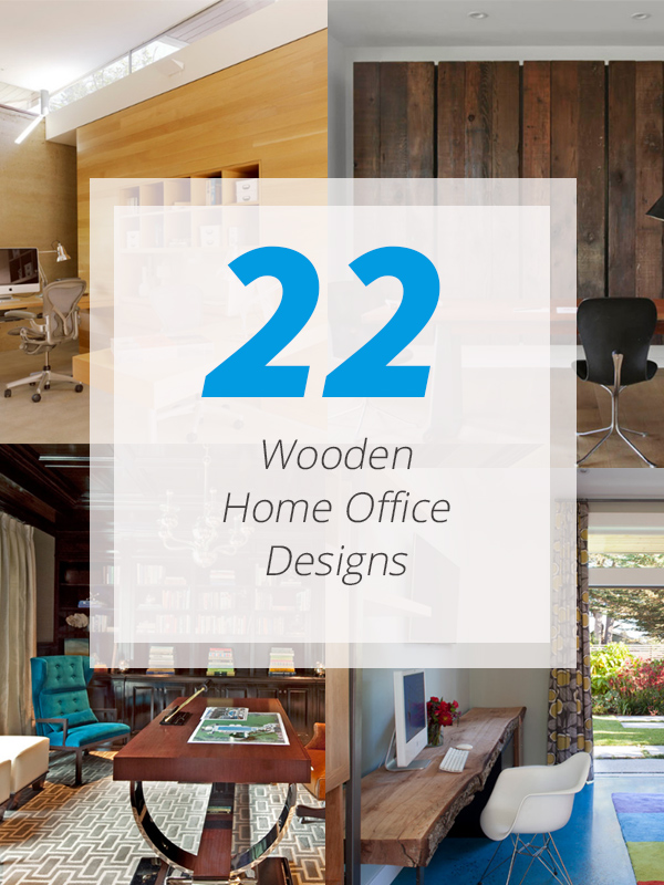22 Warm Wooden Home Office Designs | Home Design Lover