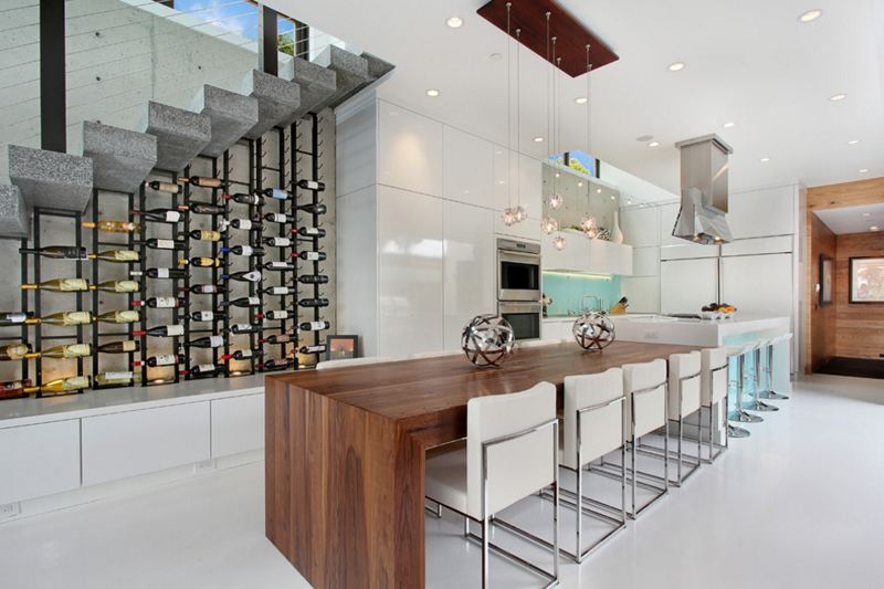 20 cool ways wine cellars rock the kitchen home design lover for Cost to build wine cellar