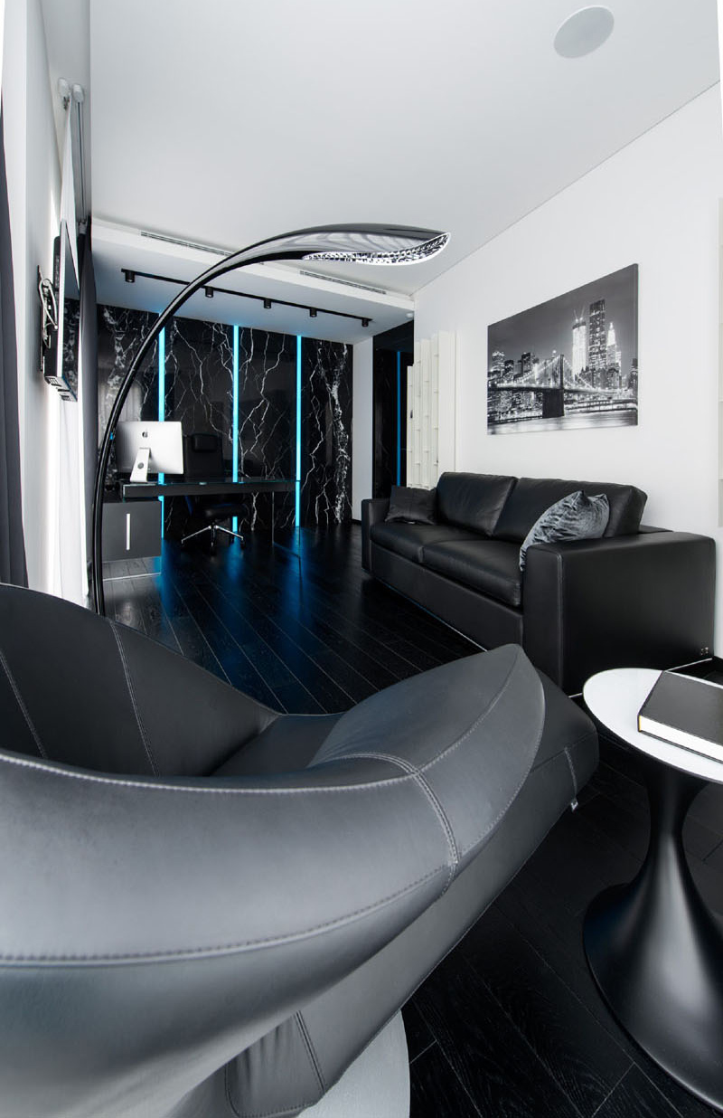 Black and White apartment home office