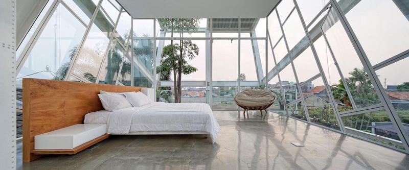 Rumah Miring Bedroom in Jakarta