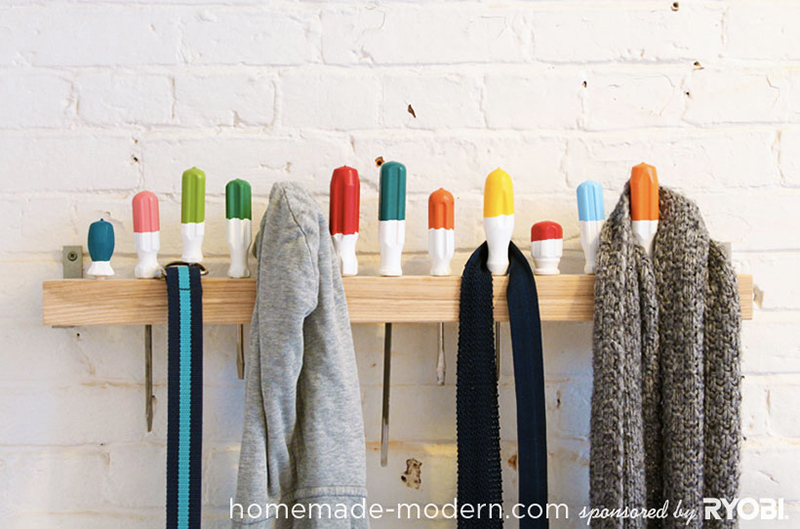 Screwdriver Coat Rack