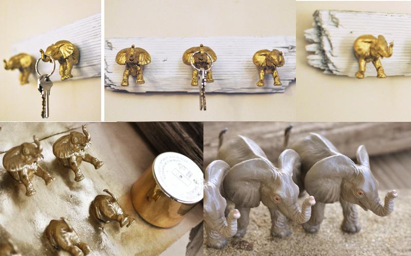 Elephant Key Hooks