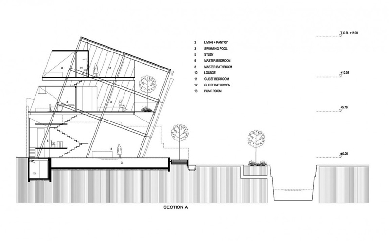 Slanted House Sketch Plan