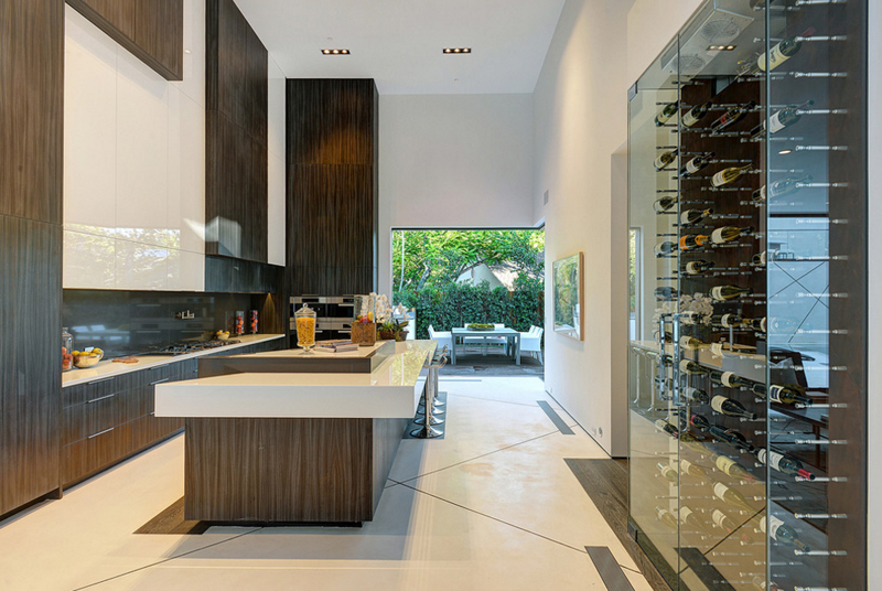 20 cool ways wine cellars rock the kitchen home design lover. Black Bedroom Furniture Sets. Home Design Ideas
