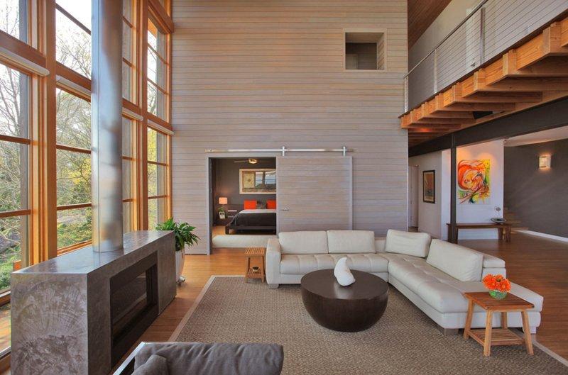 20 Lovely Wooden Sliding Doors In The Living Room