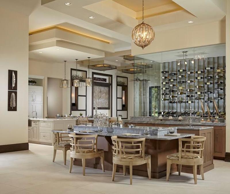 20 cool ways wine cellars rock the kitchen home design lover. Black Bedroom Furniture Sets. Home Design Ideas