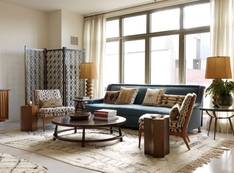 Superieur Sara Bengur Interiors. The Geometric Patterns In This Living Room Work  Nicely Together. The Accent Chairs ...
