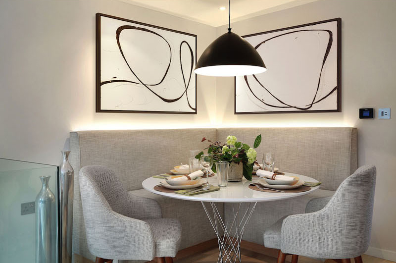 Contemporary Home banquette