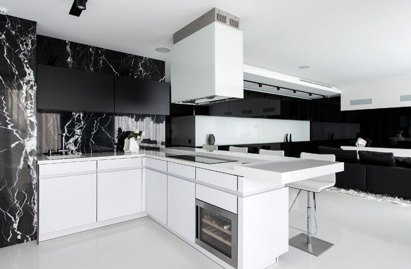 White Apartment stunning black and white apartment in moscow | home design lover